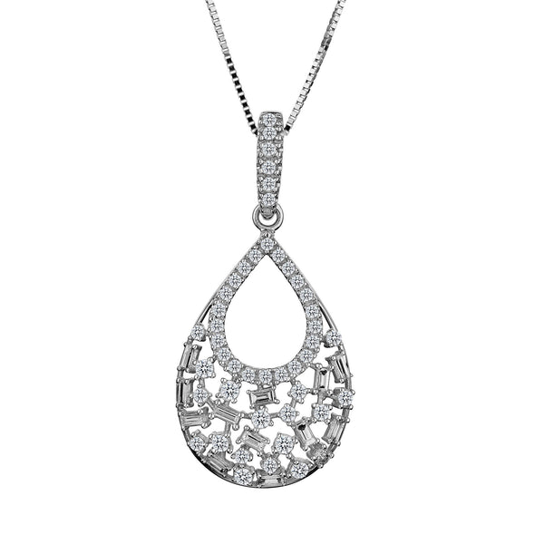 .50 CARAT DIAMOND PENDANT, 10kt WHITE GOLD, WITH 10kt WHITE GOLD CHAIN….............................NOW