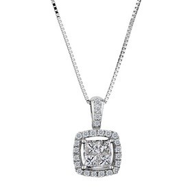 .33 CARAT DIAMOND PENDANT 10kt WHITE GOLD, WITH 10kt WHITE GOLD CHAIN......................NOW