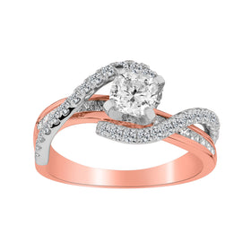 .70 + CARAT IDEAL CUSHION CUT CENTRE CANADIAN DIAMOND, 1.70 TOTAL CARAT DIAMOND ENGAGEMENT RING, 14kt WHITE AND ROSE GOLD (TWO TONE)….....................NOW