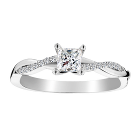.50 CARAT CANADIAN PRINCESS DIAMOND ENGAGEMENT RING, 14kt WHITE GOLD.....................NOW