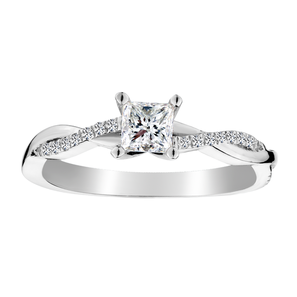 .50 CARAT CANADIAN PRINCESS DIAMOND ENGAGEMENT RING, 14kt WHITE GOLD...........NOW