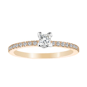 .40 CARAT CANADIAN PRINCESS DIAMOND ENGAGEMENT RING, 14kt YELLOW GOLD....................NOW