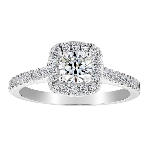 .50 CARAT DIAMOND CENTRE, .80 CARAT DIAMOND TOTAL ENGAGEMENT RING, 14kt WHITE GOLD........NOW