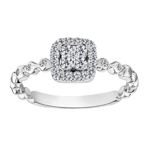 .33 CARAT DIAMOND RING, 10kt WHITE GOLD....................NOW
