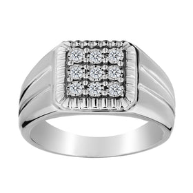 .20 CARAT DIAMOND GENTLEMAN'S RING, 10kt WHITE GOLD….............................NOW