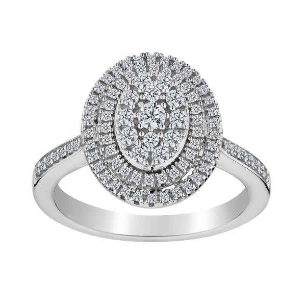 .50 CARAT DIAMOND OVAL RING, 10kt WHITE GOLD…....................NOW