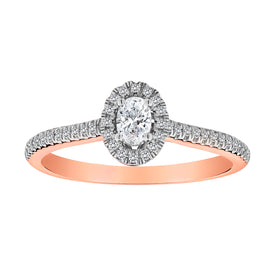 .33 CARAT DIAMOND RING, 14kt ROSE GOLD.....................NOW