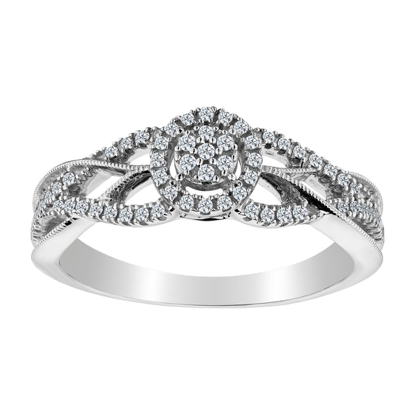 .20 CARAT DIAMOND PAVE RING, 10kt WHITE GOLD…...................NOW