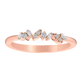 .12 CARAT DIAMOND STACKER RING, 10kt ROSE GOLD....................NOW
