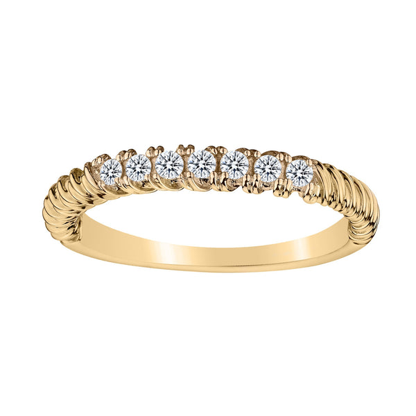 .20 CARAT DIAMOND PAVE STACKER RING, 10kt YELLOW GOLD….............................NOW