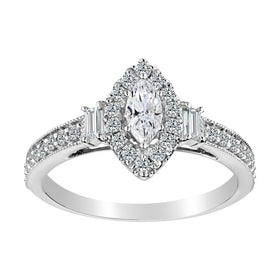 .65 CARAT DIAMOND MARQUISE ENGAGEMENT RING, 14kt WHITE GOLD….............................NOW