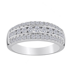 .75 CARAT DIAMOND ANNIVERSARY RING, 10kt WHITE GOLD….............................NOW