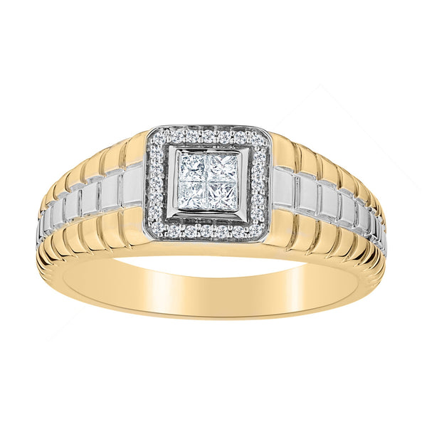 .25 CARAT DIAMOND GENTLEMAN'S RING, 10kt WHITE AND YELLOW GOLD (TWO TONE)....................NOW