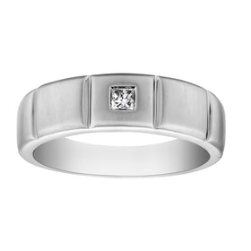 .15 CARAT DIAMOND PRINCESS CUT GENTLEMAN'S RING, 10kt WHITE GOLD….............................NOW