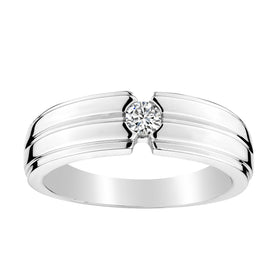 .20 CARAT DIAMOND GENTLEMAN'S SOLITAIRE RING, 10kt WHITE GOLD….............................NOW