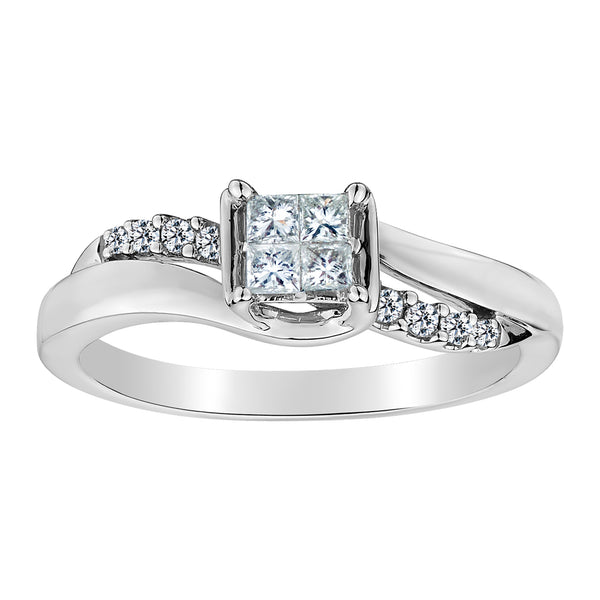 .25 CARAT DIAMOND PRINCESS RING, 10kt WHITE GOLD….............................NOW