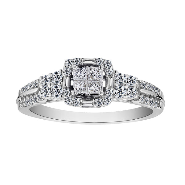 .50 CARAT DIAMOND RING, 10kt WHITE GOLD.....................NOW
