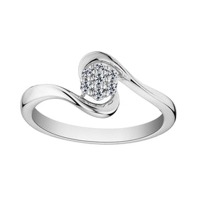 .10 CARAT DIAMOND RING, 10kt WHITE GOLD….............................NOW