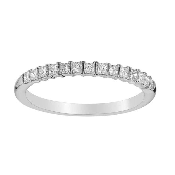 .33 CARAT DIAMOND PRINCESS RING BAND, 14kt WHITE GOLD….....................NOW