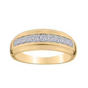 .50 CARAT DIAMOND RING BAND, 10kt YELLOW GOLD….....................NOW
