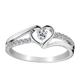 .25 CARAT DIAMOND HEART PROMISE RING, 10kt WHITE GOLD….............................NOW