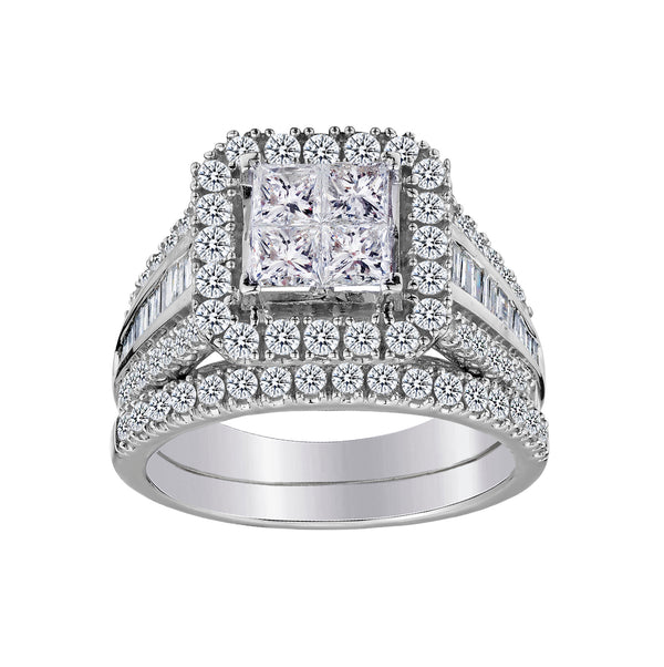 2.00 CARAT DIAMOND ENGAGEMENT RING SET, 14kt WHITE GOLD….............................NOW