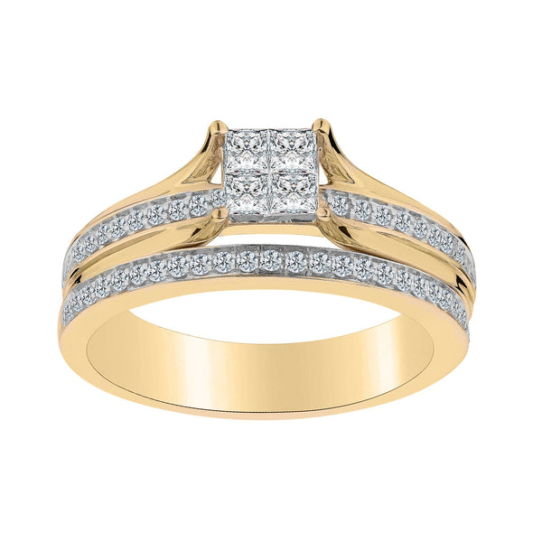 .50 CARAT DIAMOND RING SET, 10kt YELLOW GOLD….............................NOW