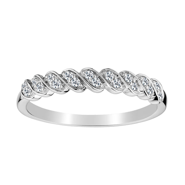 .15 CARAT DIAMOND BAND, 10kt WHITE GOLD…...................NOW