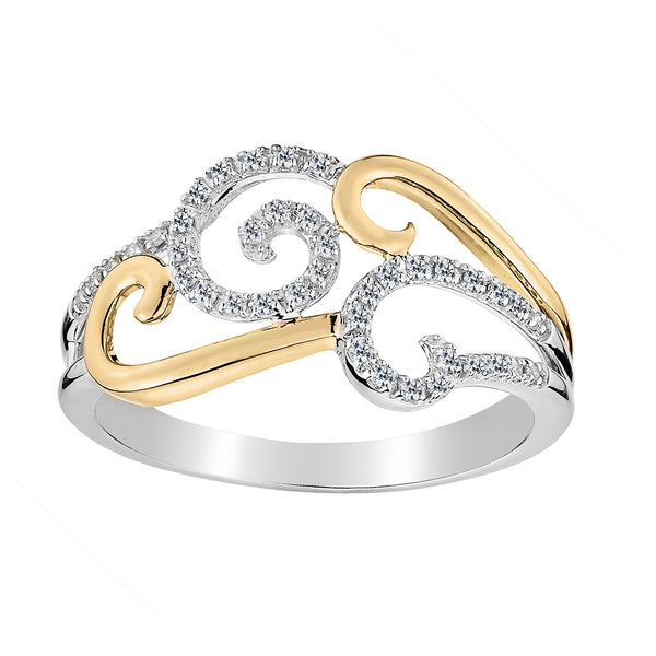 .16 CARAT DIAMOND RING, 10kt WHITE AND YELLOW GOLD (TWO TONE)….............................NOW