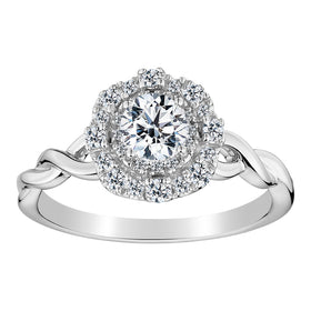 .75 CARAT DIAMOND ENGAGEMENT RING, 10kt WHITE GOLD.......................NOW