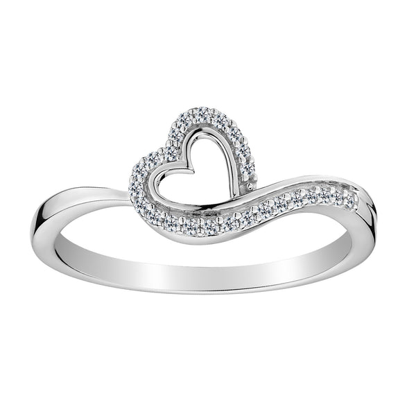 .10 CARAT DIAMOND HEART RING, 10kt WHITE GOLD….............................NOW