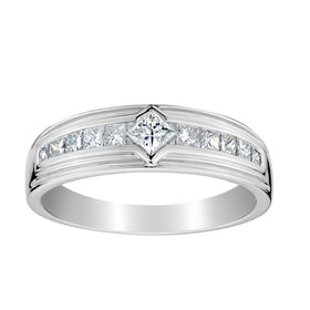 .75 CARAT DIAMOND PRINCESS CUT RING, 10kt WHITE GOLD….............................NOW