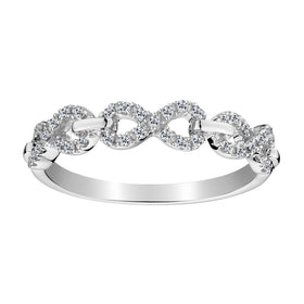.16 CARAT DIAMOND INFINITY LINK RING, 10kt WHITE GOLD….............................NOW