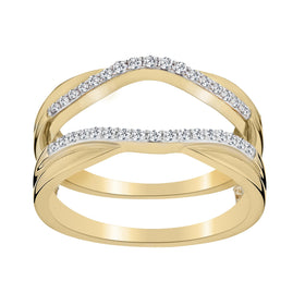 .15 CARAT DIAMOND JACKET RING, 14kt YELLOW GOLD..........NOW