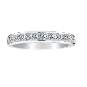 .50 CARAT LAB DIAMOND BAND, VS+ CLARITY, FG+ COLOUR, 14kt WHITE GOLD.......................NOW
