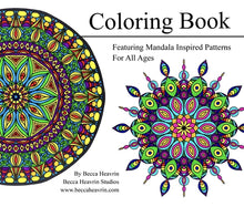 Load image into Gallery viewer, Mandala Inspired Coloring Book