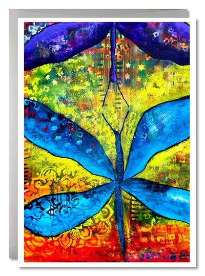 One Image Card Sets - Dragonflies Meeting