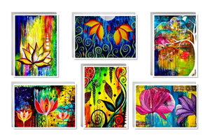 Six Image Card Set - Florals