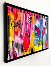 "Load image into Gallery viewer, Original Painting - Flower Abstract (18""X24"") - Framed"