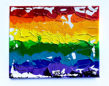"Load image into Gallery viewer, Rainbow Art - Original Painting - Abstract White #2 (8""X10"")"