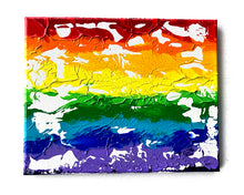 "Load image into Gallery viewer, Rainbow Art - Original Painting - Abstract White #3 (8""X10"")"