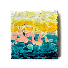 "Load image into Gallery viewer, Water is Consumed by a Thirsty Sky Who Sips From Each Wave Like It's the Rich, Delicious Foam of a Fresh Espresso Shot (6""X6"")"