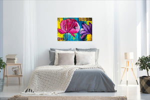 "Original Painting - Rain on the Peonies (24""X36"")"
