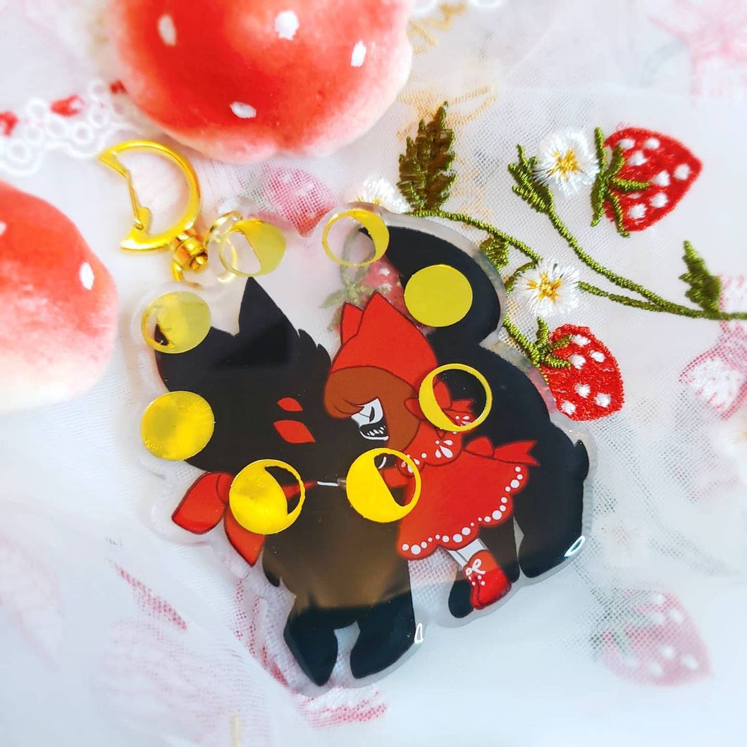 Little Red Gold Foil Charm