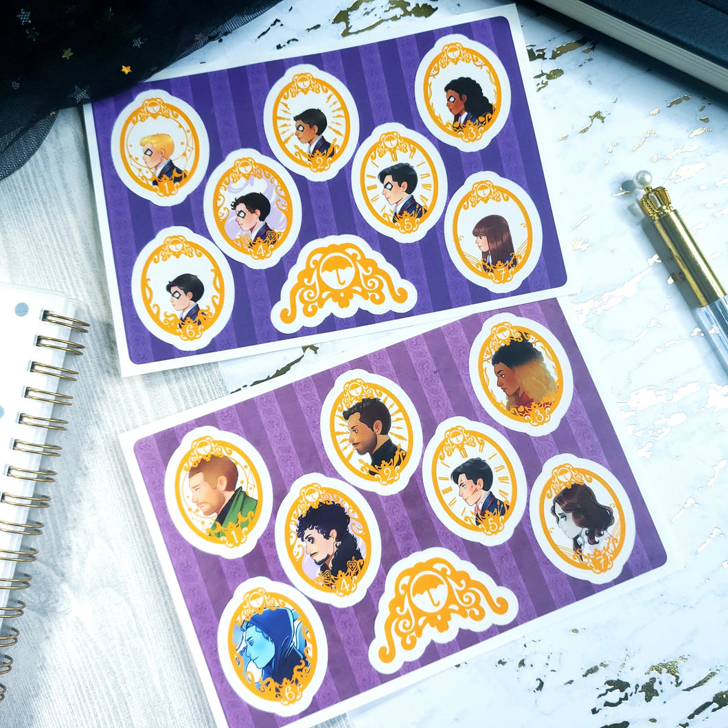 Clear Umbrella Academy Sticker Sheets