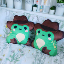 Load image into Gallery viewer, Cowboy Froggy Pillow