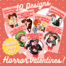 Load image into Gallery viewer, Valentine Postcards (Horror Pairings)