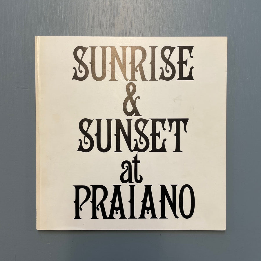 Lewitt Sol - Sunrise and Sunset at Praiano - Rizzoli & Multiples Inc. 1980