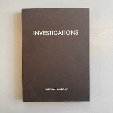 Marclay Christian - Investigations - White Cube Edition 2018