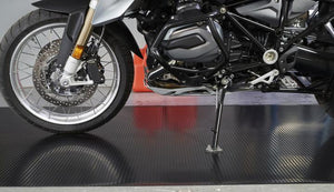 G-Floor Ribbed 3' x 8' Midnight Black Motorcycle Mat